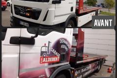Garage Aldebert dépanneuse AVANT APRES