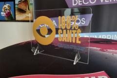Pascal optique chevalet de table plexi