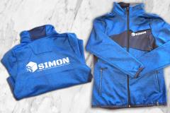 Simon veste bleu flocage