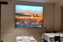 Hotel & restaurant la route d'argent Nasbinals -  toile tendue sur cadre