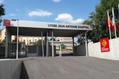Lycée Chaptal Lettre relief