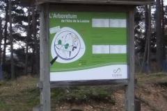 panneau plan Arboretum 2