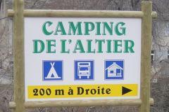 Panneau Camping de l'Altier