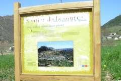 Panneau Sentier de la source Ispagnac