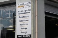 Garage Ramadier panneau prestation