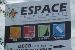 Espace Revêtement pré-enseigne 4X3