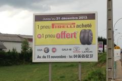 Pub pirelli  pré-enseigne 4X3