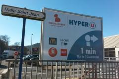 Hyper-U pré-enseigne 4X3