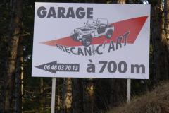 Garage Mécanic'Art pré-enseigne