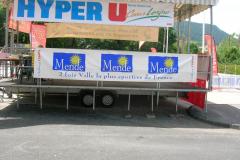 Hyper U et ville de Mende banderole