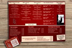 Buron du Ché menu QR code
