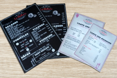 Le Belluno menu sur priplak