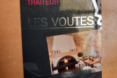 Les voutes restaurant carte de visite