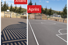 Marquage sol stade Chateauneuf 2020