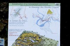 panneau de chantier les hameaux des hautes vignes