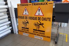 Panneaux risque chute vélo engelvin TP