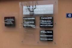 Cabinet dentaire plaques