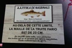 Plaque AAPPMA Nasbinals imitation bois