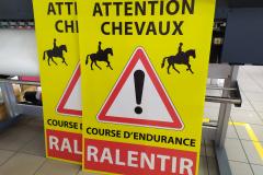 Lozere Endurance Equestre Panneau crlène