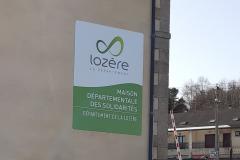Panneau Département de la Lozère St Chely 2