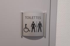 ADMR Mende signalétique porte toilettes