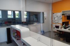 Plexi de protection COVID-19 Lycée Théophile Roussel Saint Chely