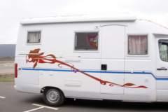 Camping Car déco fleur