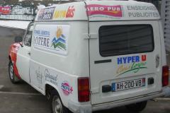 camionnette publicité